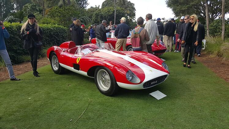 Ferrari on the Croquet lawn at Cavallino