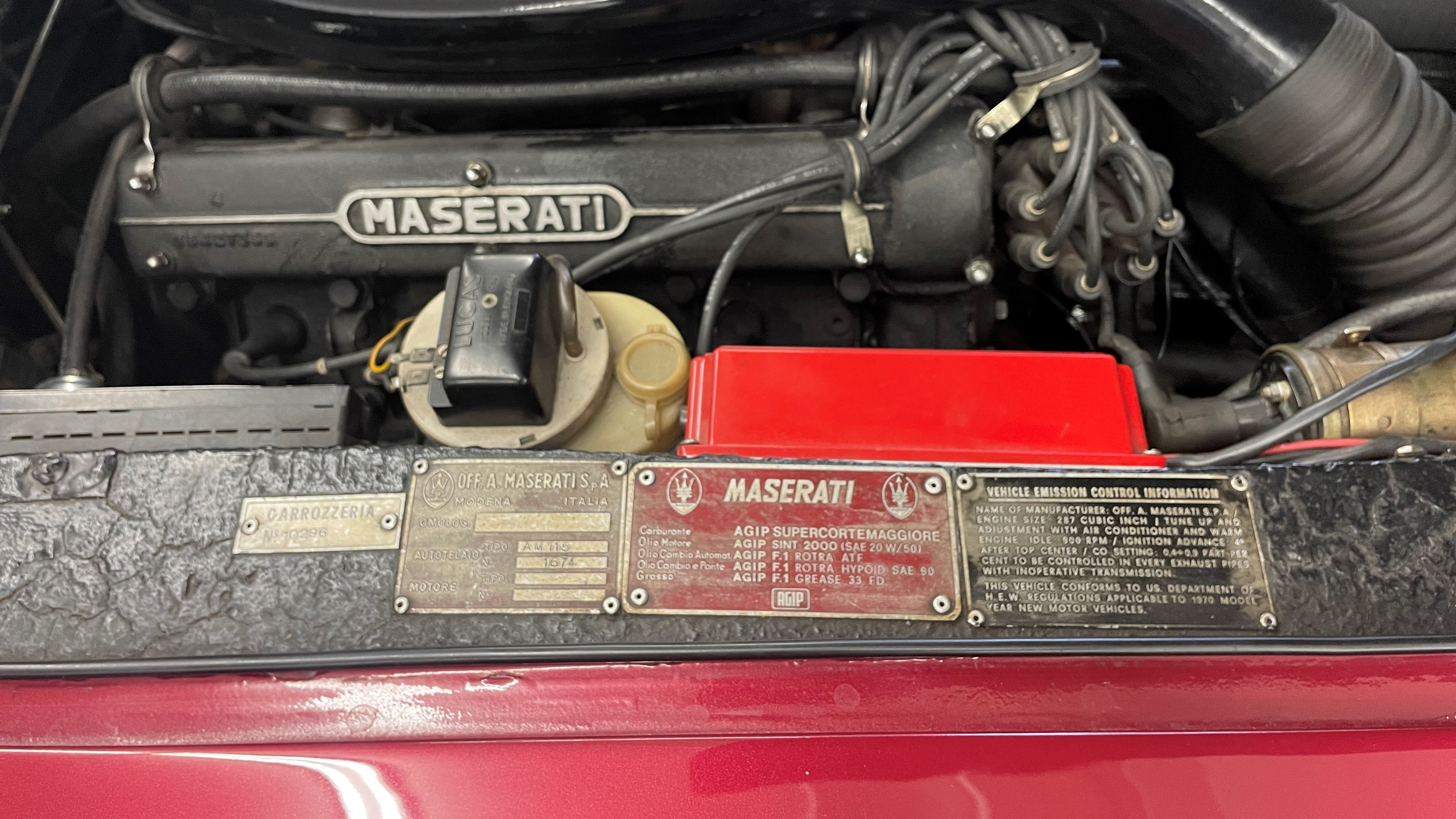 Maserati engine bay