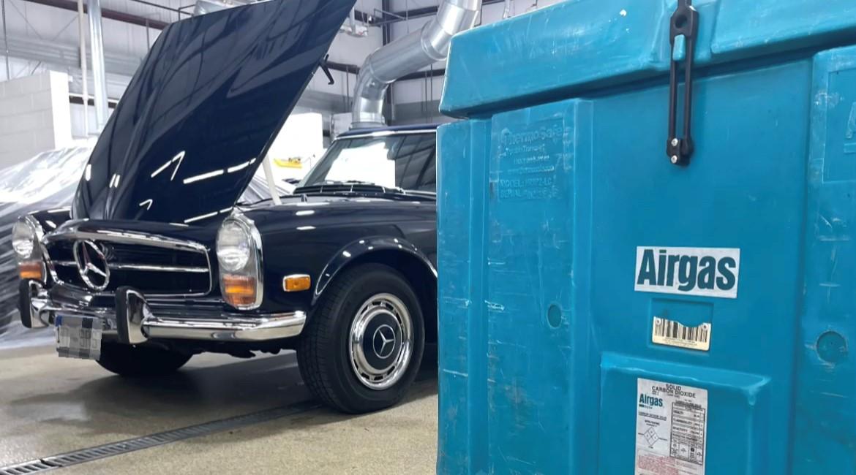 Dry Ice Blasting - Farland Classic Restoration
